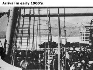 Arrival in early 1900's