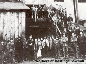 Workers at Hastings Sawmill