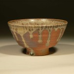 Ash glazed chawan by Chris Sora