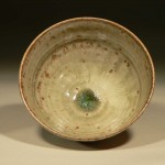 Ash glazed chawan - inside