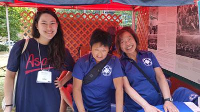 Lisa, Eiko and Vivian at NAJC tent